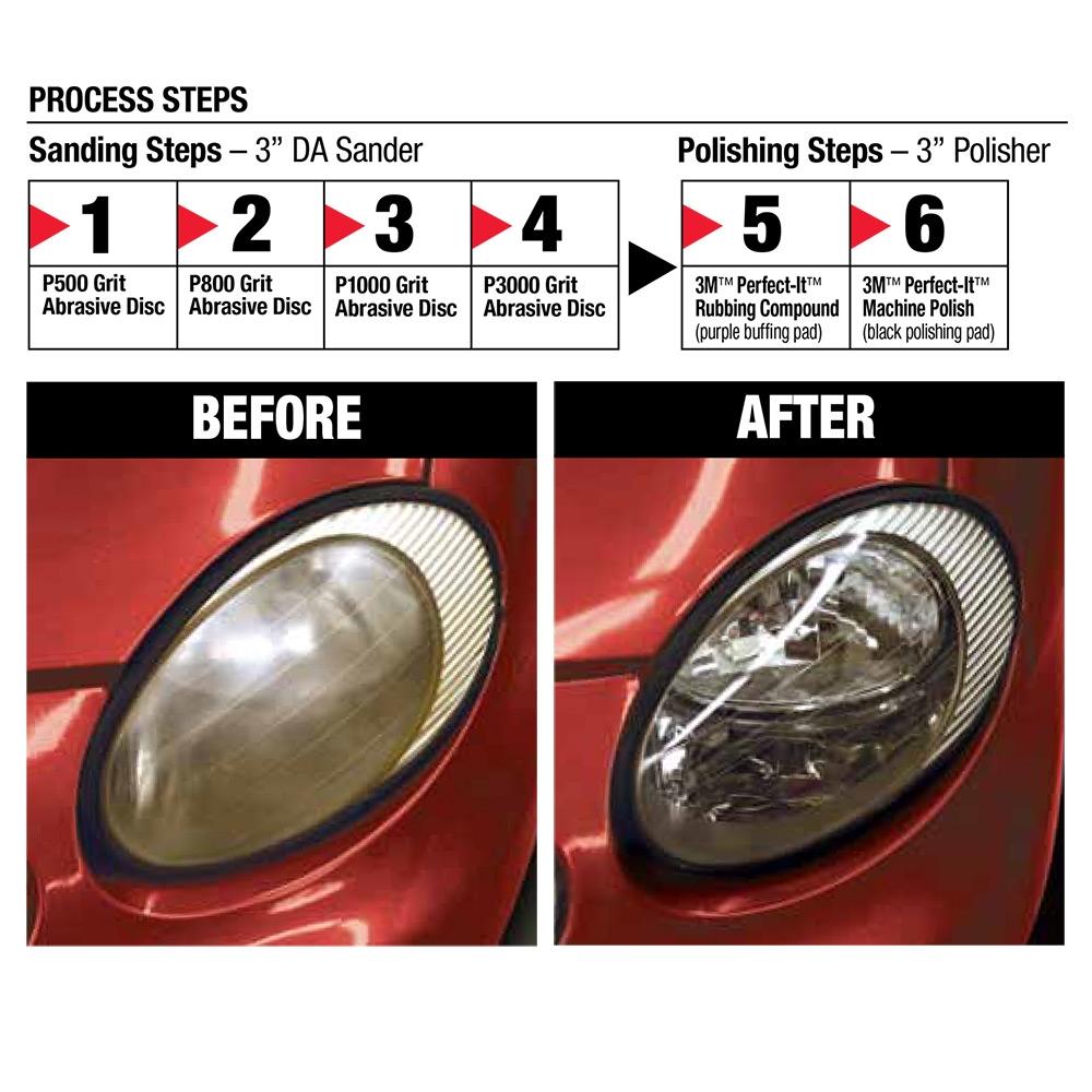 3M Professional Headlight Lens Restoration Kit, 02516