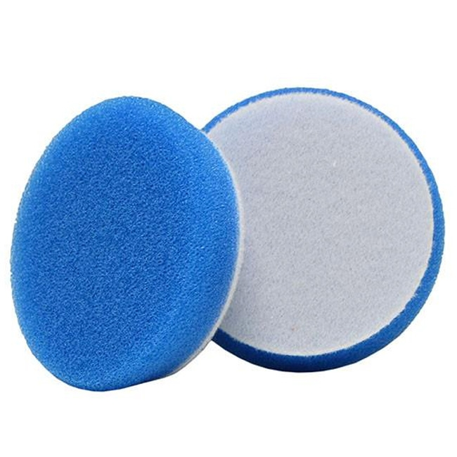 Buff and Shine Uro-Tec Foam Heavy Cutting Pad, Blue - 3 inch (2 pack)