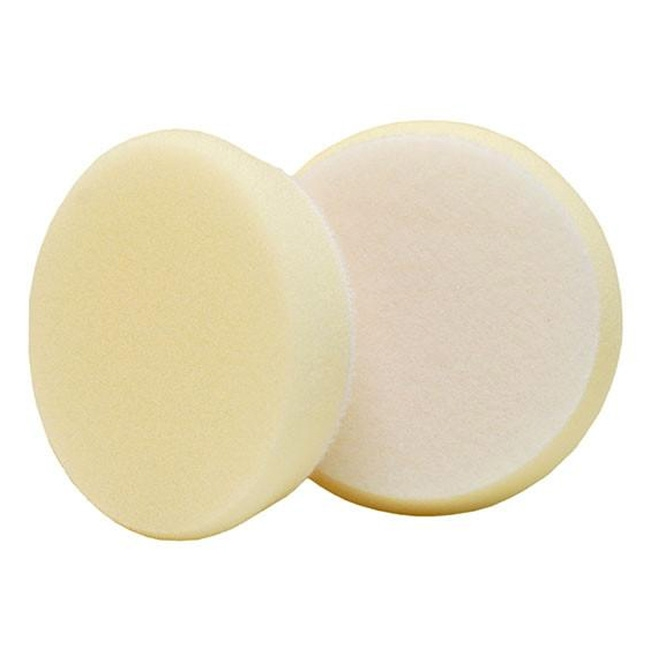 Buff and Shine Uro-Tec Foam Finishing Pad, White - 3 inch (2 pack)