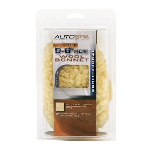 AutoSpa Synthetic Wool Polishing Bonnet for 5-6 inch Orbital Polishers