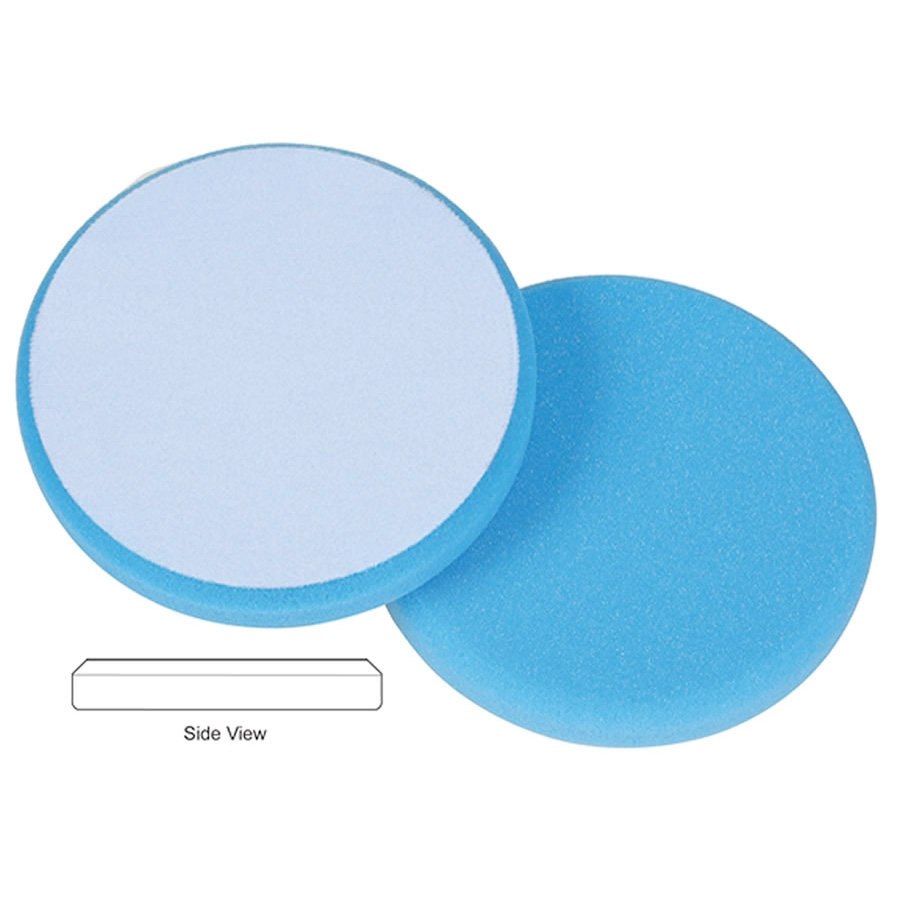 Lake Country Hydro-Tech Foam Cutting Pad, Cyan - 6.5 inch x 7/8 inch
