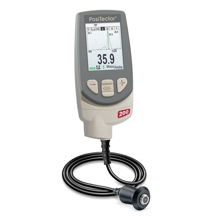 DeFelsko PosiTector 200 B/Adv Coating Thickness Gauge for Non-Metal Substrates (Advanced Body + Probe)