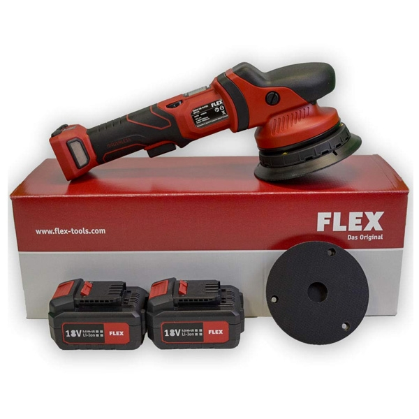 "Flex XFE 15 150 18.0-EC ""The Finisher"" Cordless Random Orbital Polisher Set"