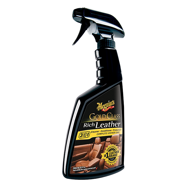 Meguiar's Gold Class Rich Leather 3-in-1: Cleaner, Conditioner, Protectant - 16 oz.