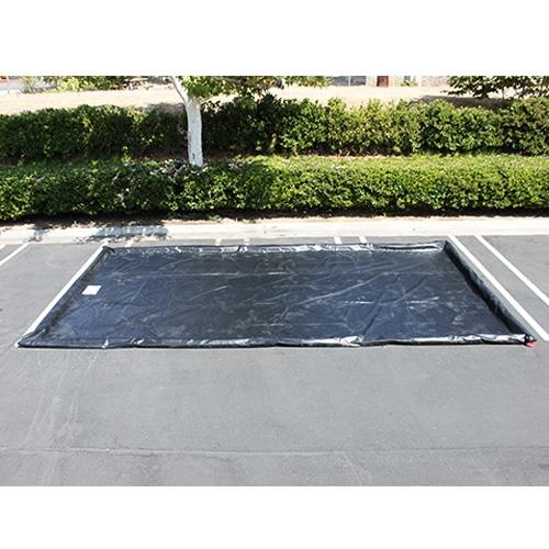 "Husky Water Containment Mat, 10' x 20' x 3"" Berm, 22 oz. PVC - Black"
