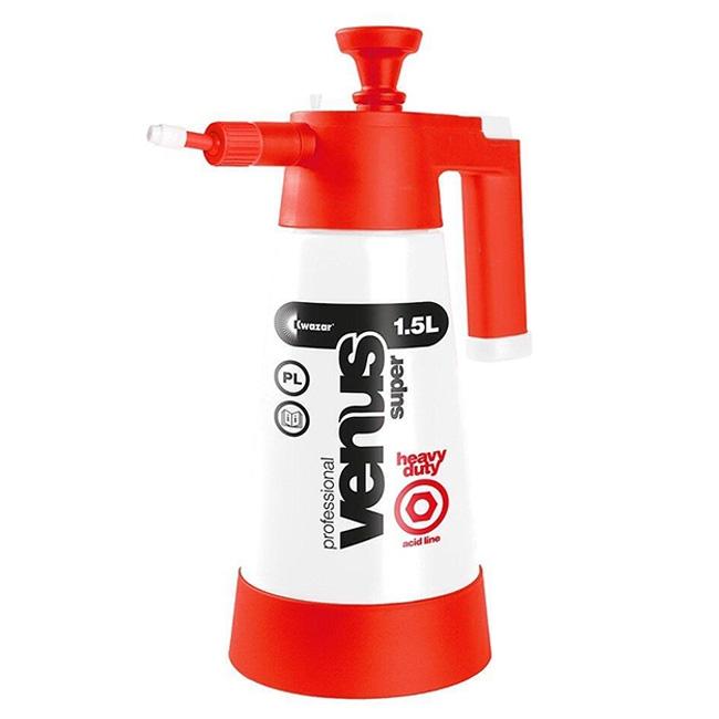 Kwazar Venus Heavy Duty Acid Sprayer, Red/White - 1.5 Liter