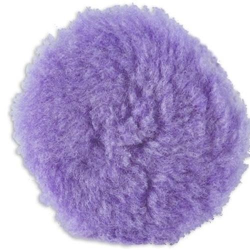 Lake Country Purple Foamed Wool Buffing/Polishing Pad - 7.5 inch