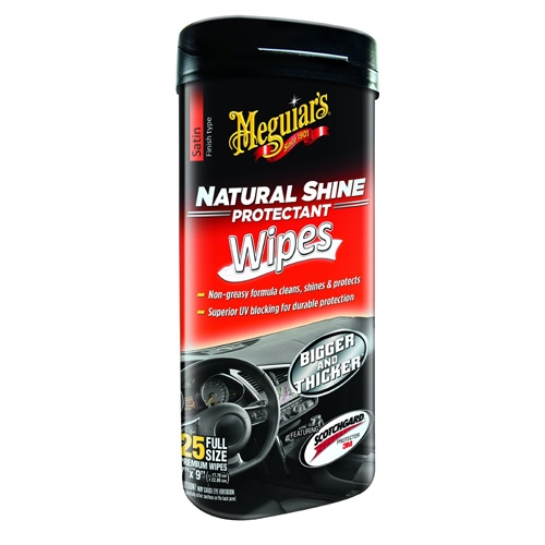 Meguiar's Natural Shine Protectant Wipes