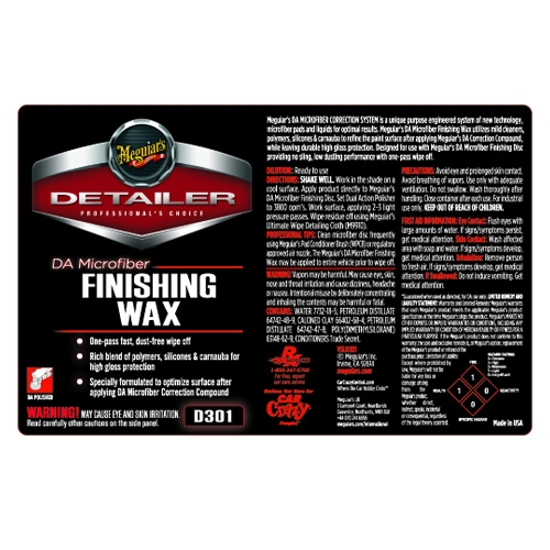 Meguiar's Secondary Label - DA Microfiber Finishing Wax