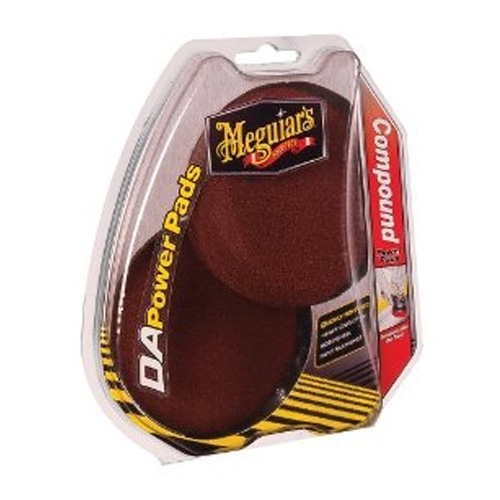 Meguiar's DA Powerpad System Red Foam Cutting Pads - 4 inch (2 pack)