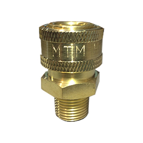 "MTM Hydro Brass Quick Connect Coupler - 3/8"" Male"
