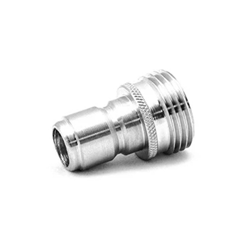 "MTM Stainless Steel Garden Hose Quick Connect Plug - 3/4"" Male"