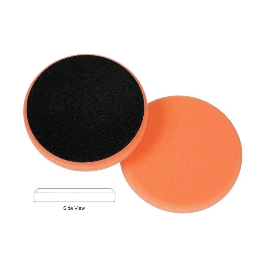 Lake Country Flat Cutback DA Foam Light Cutting Pad, Orange - 5.5 inch