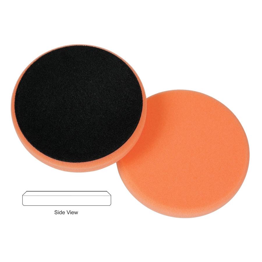 Lake Country Flat Cutback DA Foam Light Cutting Pad, Orange - 6.5 inch
