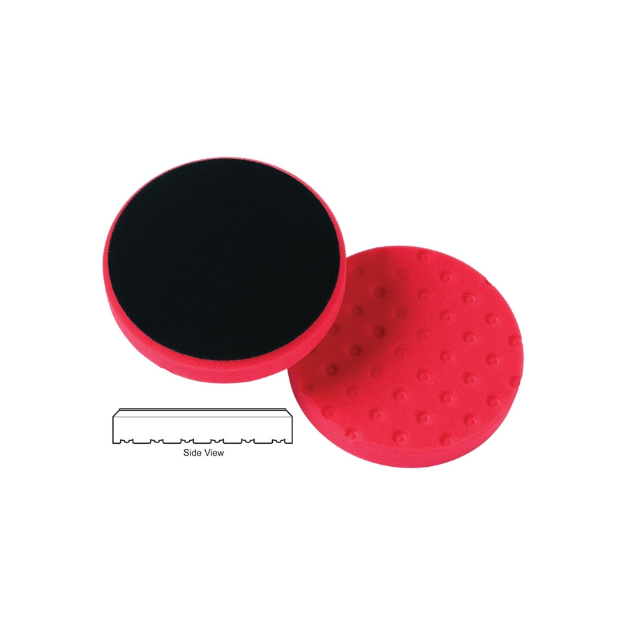 Lake Country CCS Cutback DA Foam Wax/Sealant Pad, Red - 3.5 inch