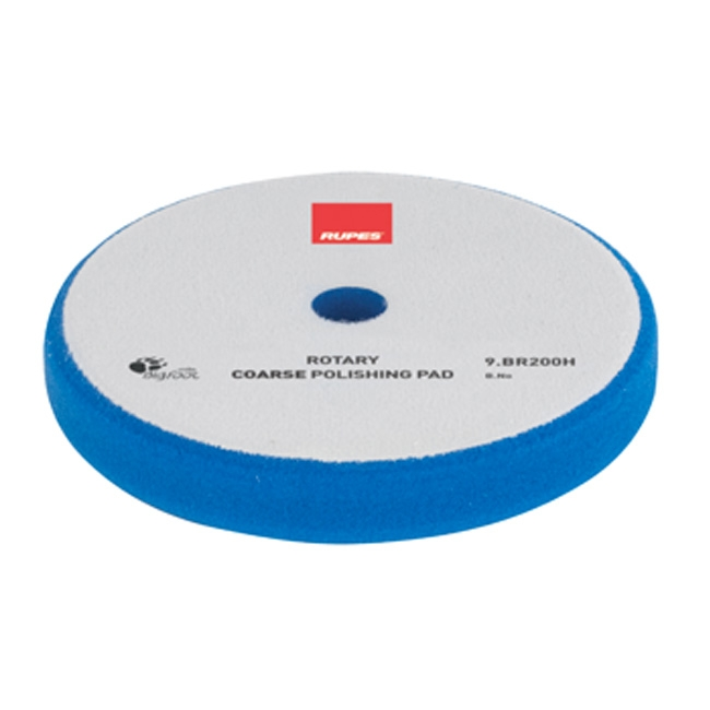 Rupes Rotary Foam Compounding Pad, Blue/Coarse - 160mm (6 inch backing)