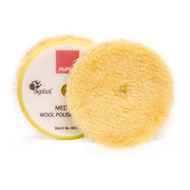 Rupes Wool Polishing Pad, Yellow/Medium - 145mm (5 inch backing)