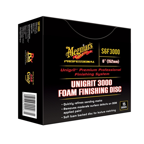 Meguiar's Unigrit 3000 Grit Foam Finishing Discs, 6 in, S6F3000 (15 Discs)
