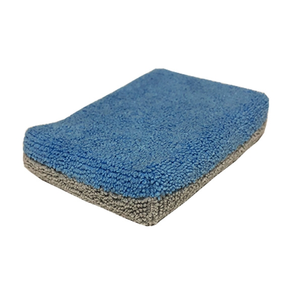 "Saver Applicator Thin Microfiber Coating Sponge, Blue/Gray - 5"" x 3.5"" x 1"""
