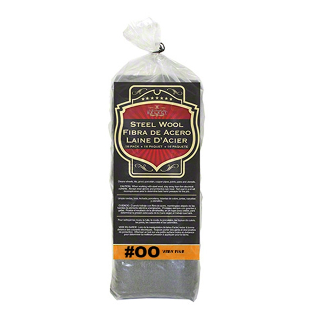 SM Arnold Steel Wool, Grade 00 - Very Fine (16 pads)