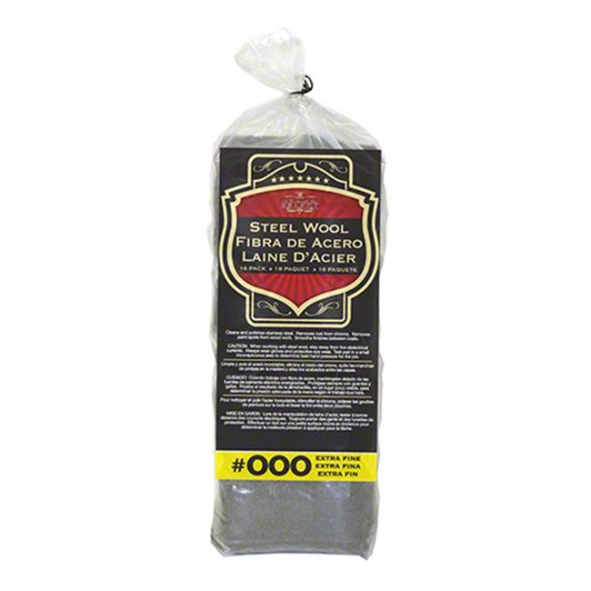 SM Arnold Steel Wool, Grade 000 - Extra Fine (16 pads)