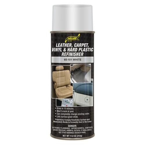 SM Arnold Leather, Vinyl & Hard Plastic Refinisher, White - 11 oz. aerosol
