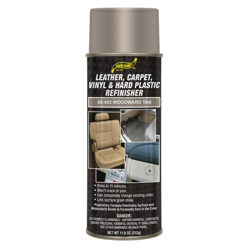 SM Arnold Leather, Vinyl & Hard Plastic Refinisher, Woodward Tan - 11 oz. aerosol