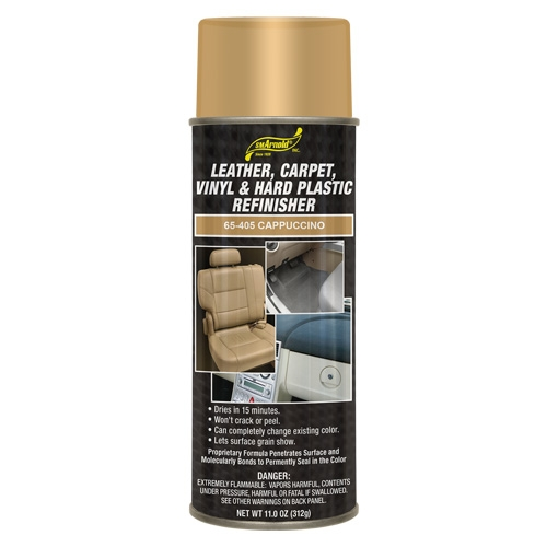 SM Arnold Leather, Vinyl & Hard Plastic Refinisher, Cappuccino - 11 oz. aerosol