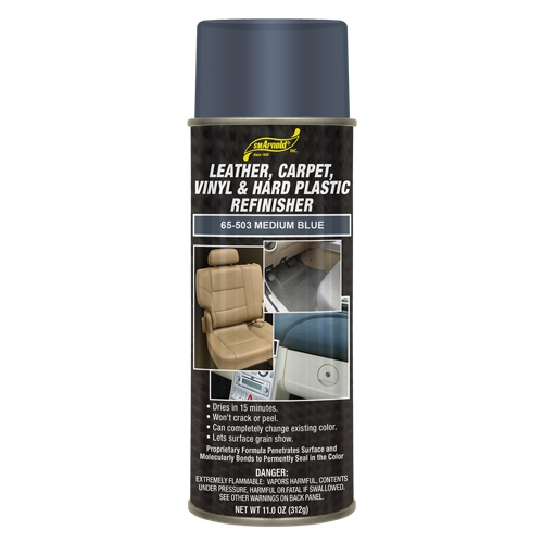 SM Arnold Leather, Vinyl & Hard Plastic Refinisher, Medium Blue - 11 oz. aerosol