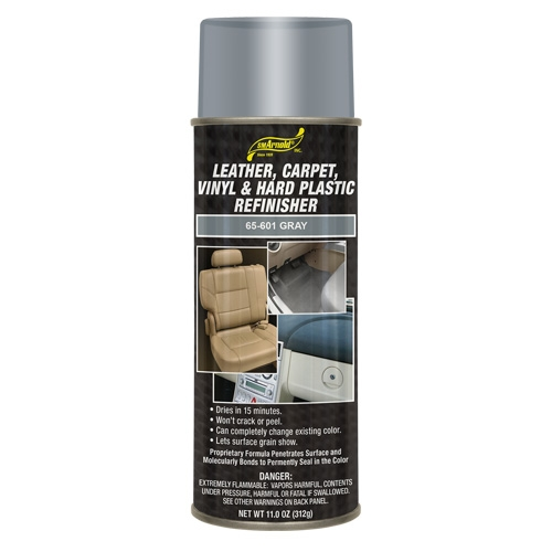 SM Arnold Leather, Vinyl & Hard Plastic Refinisher, Gray - 11 oz. aerosol