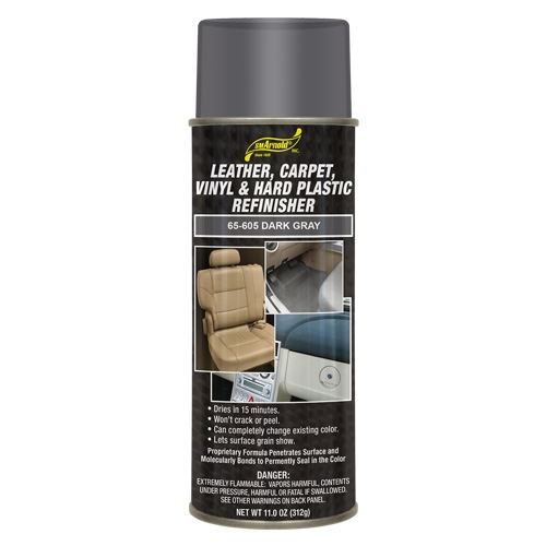 SM Arnold Leather, Vinyl & Hard Plastic Refinisher, Dark Gray - 11 oz. aerosol
