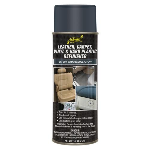 SM Arnold Leather, Vinyl & Hard Plastic Refinisher, Charcoal Gray - 11 oz. aerosol