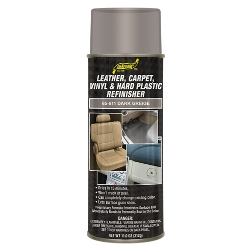 SM Arnold Leather, Vinyl & Hard Plastic Refinisher, Dark Greige - 11 oz. aerosol