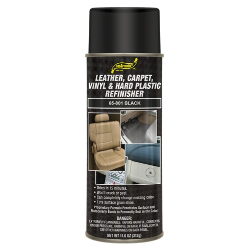 SM Arnold Leather, Vinyl & Hard Plastic Refinisher, Black - 11 oz. aerosol