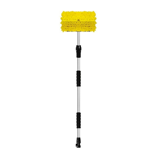 "SM Arnold Bi-Level Wash Brush with 36""-60"" Telescopic Flow-Thru Handle and On/Off Valve"