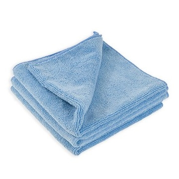 "All Purpose 380 Microfiber Towel - Light Blue - 16"" x 16"""