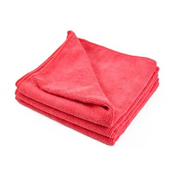 "All Purpose 380 Microfiber Towel - Red - 16"" x 16"""