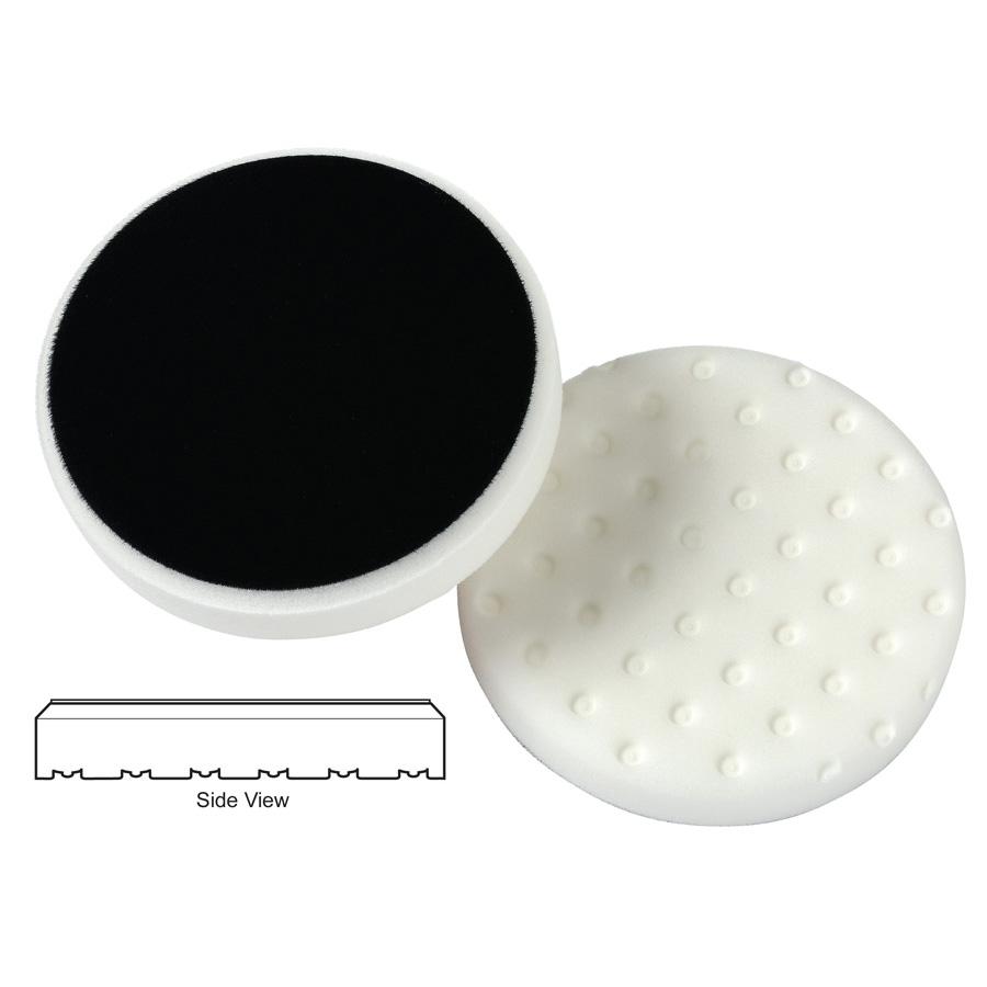 Lake Country CCS Cutback DA Foam Polishing Pad, White - 6.5 inch