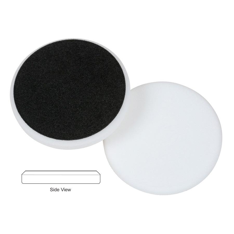 Lake Country Flat Cutback DA Foam Polishing Pad, White - 6.5 inch