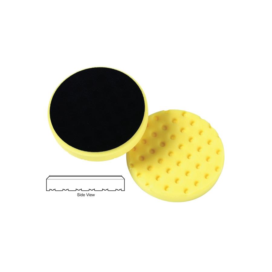 Lake Country CCS Cutback DA Foam Cutting Pad, Yellow - 3.5 inch