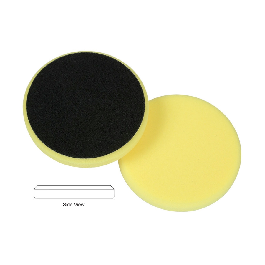 Lake Country Flat Cutback DA Foam Cutting Pad, Yellow - 5.5 inch