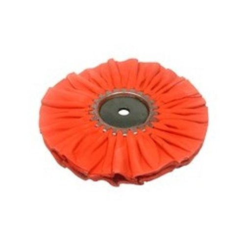 Zephyr Airway Buffing Wheel, Orange Ruffy Clear Dip - 8 inch