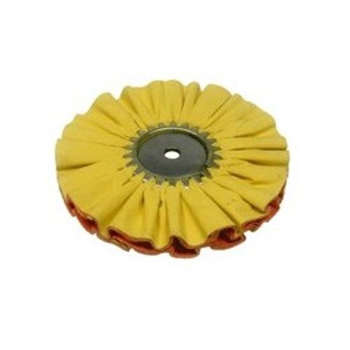 Zephyr Airway Buffing Wheel, Yellow 1 on 1 #4 Fast Cut Airway - 8 inch