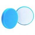 Buff and Shine Flat Face Foam Light Polishing Pad, Blue - 4 inch (2 pack)