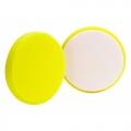 Buff and Shine Flat Face DA Foam Heavy Cutting Pad, Yellow - 5.5 inch