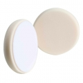 Buff and Shine Beveled Face Foam Ultra Finishing Pad, White - 6 inch