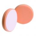 Buff and Shine Beveled Face Foam Medium Cutting Pad, Orange - 6 inch