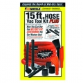 Mr. Nozzle Vac Tool Kit Plus for Wet-Dry Shop Vacs - 15 ft. Hose