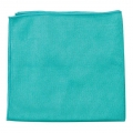 "Buff and Shine Microfiber Glass Towel, Dark Green - 16"" x 16"""