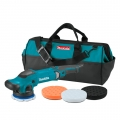 "Makita 5"" Dual Action Random Orbit Polisher Kit - 110V (includes bag and 3 pads)"